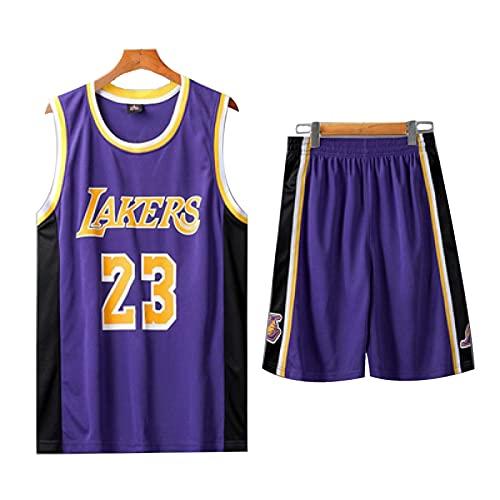 Lakers James # 23 - Maglia da basket per bambini, adatta per ragazze e ragazze, taglia S, colore: viola