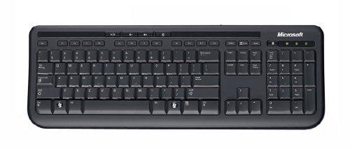 Microsoft Wired Desktop 600 (Set mit Maus und Tastatur, deutsches QWERTZ Tastaturlayout, schwarz, kabelgebunden)