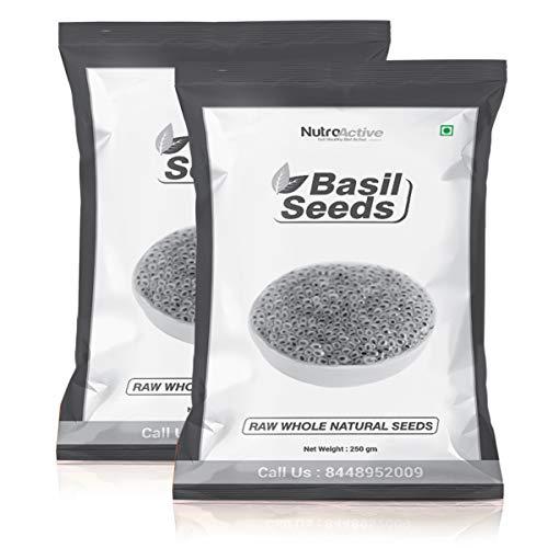 NutroActive Basil Seeds, Tukmariya/Sabja Seeds - 250g (Pack of 2)