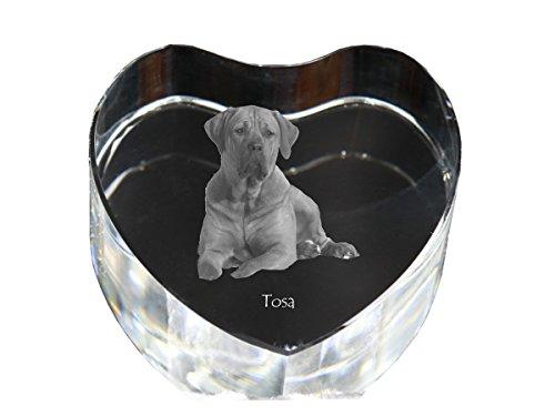 ArtDog Ltd. Tosa Inu, kristallen hart met hond, decoratie, limited edition, glazen collectie