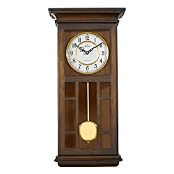 Bulova C4337 Mayfair Chiming Wall Clock, Walnut
