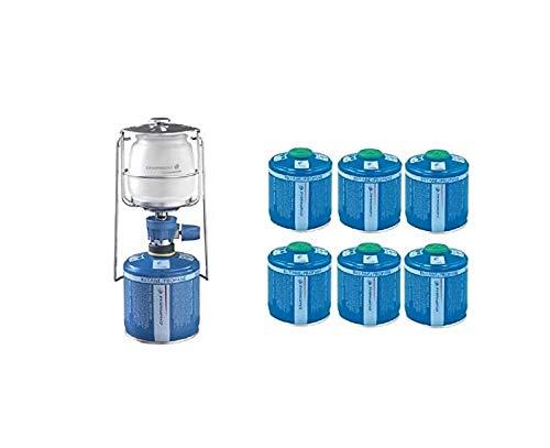 ALTIGASI Farol lámpara de gas Lumogaz Plus Campingaz de 80 W + 6 cartuchos CV 300 de 240 g