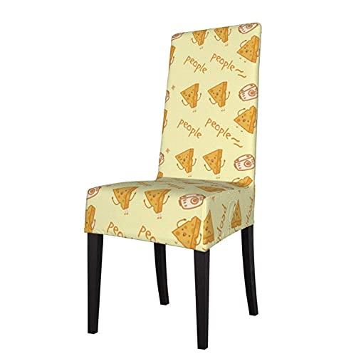 Stuhlhussen Funny Cheese Junket Fruit Jelly Sitzschutz Stretch Dining Chair Schonbezug Sitzbezug für Stühle