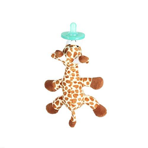 WangsCanis Ciuccio Adorabile dei Bambini del Fumetto Ciuccio Ortodontico del Silicone del Succhietto del Capezzolo del Giocattolo Animale (Giraffa, OneSize)
