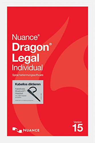 Nuance Dragon NaturallySpeaking Dragon Legal Individual 15 Wireless