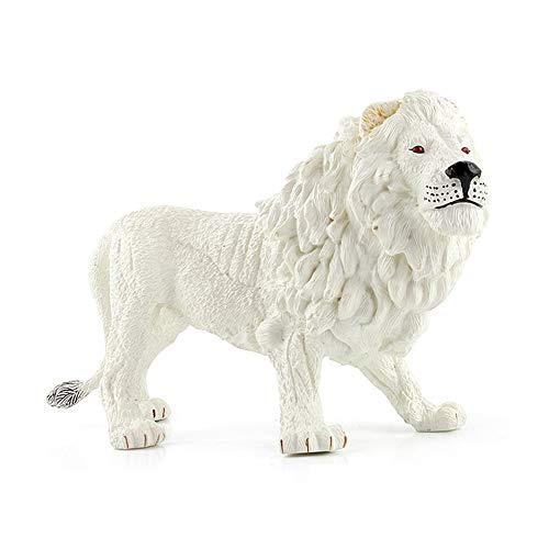 Yangyang König der Bestien Löwe Garten-Statue Im Freien Haus Dekoration Tierskulptur Sammlung Ornamente,Weiß