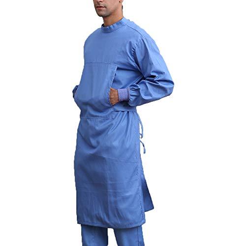 Medizinische Kleidung Medizinische Uniform Arbeitskleidung Langarm Krankenschwester Uniform Atmungsaktiver Anzug Krankenhaus-chirurgische Kleidung Overall für Zahnkliniken,D,L