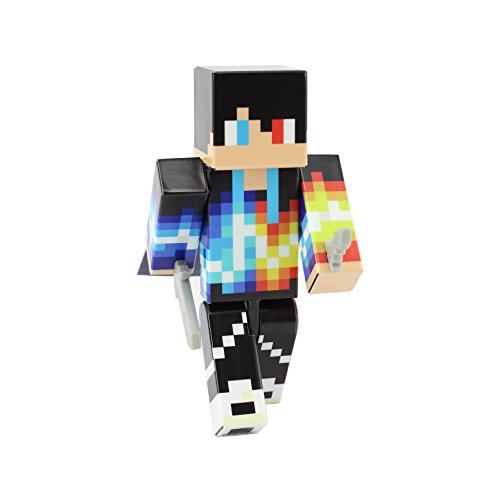 EnderToys Fire and Ice Boy Action Figure Toy, 4 Inch Custom Series Figurines