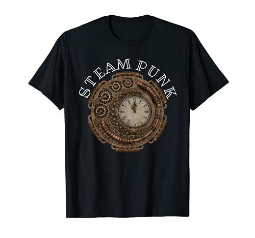 Steampunk Reloj Cosplay Ciencia ficción Fantasía Equipo mecánico Geek Camiseta