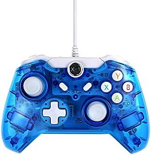 PC Win / 7/8/10用USB有線ゲームコントローラーXbox One /スリムゲームパッドジョイスティックジョイパッド(クリアブルー)