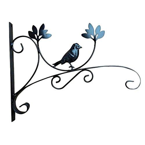 Terynbat Blumentopf Wandhaken, Eisen Blumentopf Blumenkorb Laterne Hängenden Korb Haken Halterung, Outdoor Balkon Wandbehang Blumenregal