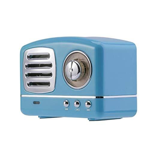 DTTKKUE Retro Kreative Bluetooth Lautsprecher Antike Kreative Bluetooth Lautsprecher-Ausgangsdekoration Antike Bluetooth Lautsprecher Atmosphäre zu Hause Retro Bluetooth Lautsprecher,Blau