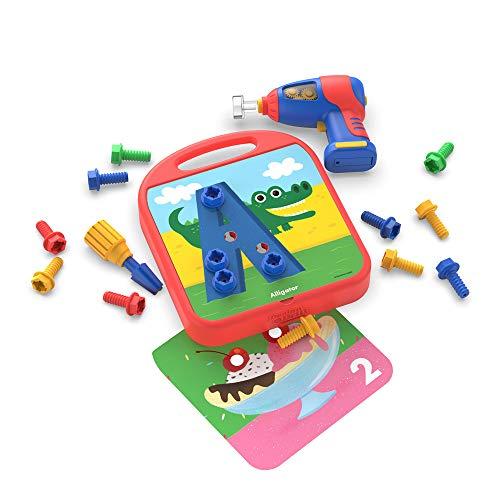 Learning Resources EI-4113 Design & Drill ABC & 123, Konstruktionsspielzeug für die Feinmotorik, Unisex Children, bunt
