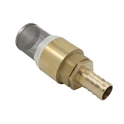 Clapet anti retour avec crepine 1/2 3/4 1 pouce avec douille 12 16 19mm - clapet de pied clapet crepine anti retour (filetage 1/2 pollice + Raccords de tube 12mm)