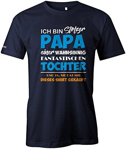 Jayess Ich Bin stolzer Papa Einer wahnsinnig fantastischen Tochter - Herren T-Shirt in Navy by Gr. L