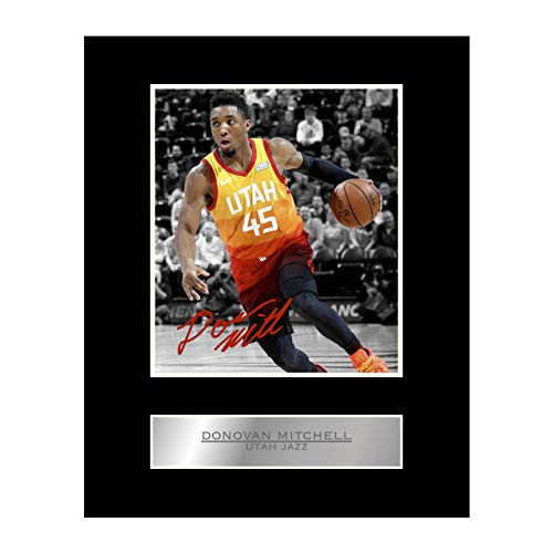 Utah Jazz NBA Framed 8x10 Photograph Team Logo and Basketball
