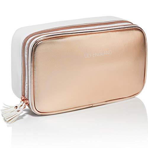 Rosegold Make Up Tasche Organizer | Makeup Täschchen/Kosmetiktasche. Geschenkidee für Frauen, Lily England