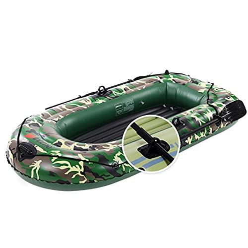 Barca Hinchable, Barco Inflable, Kayak Hinchable para 3 Personas, Balsa Inflable para Adultos Bote Inflable con Remos, Cuerda, Paleta, Bomba De Aire Y Patches De Reparación para Ríos, Lagos
