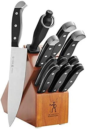 J.A. Henckels International Statement 12 Piece Cutlery Set with Dark Wood Block