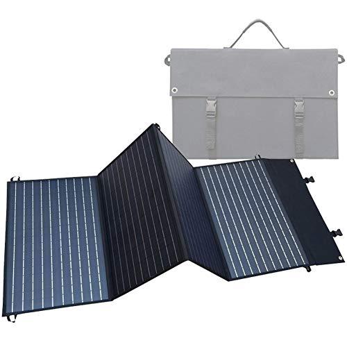 Cargador Solar, Power Bank Solar Portátil con 4 Paneles Solares Pliegue, Placa Solar Cargador Impermeable con 2 Puertos USB & Soporte, para Teléfono Inteligente, Tablet, Cámara Deportiva,120w