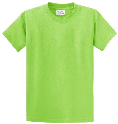 Joe's USA(tm - Youth Heavyweight Cotton Short Sleeve T-Shirt in Size XL Lime