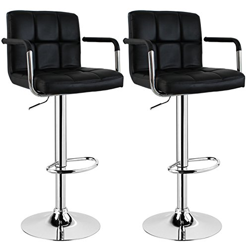 WOLTU BH16 Serie Design Barhocker mit Armlehne, 2er Set, stufenlose...