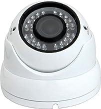 V-See Cámara de Seguridad 700 TVL Sony Effio DSP 2.8-12mm Manual Objetivo zoom 36 IR LED de visión nocturna Día de interior al aire libre de la direction seguridad casera de Vigilancia de aluminio a prueba de vandalismo 30M IR Cámara Domo Color Blanco