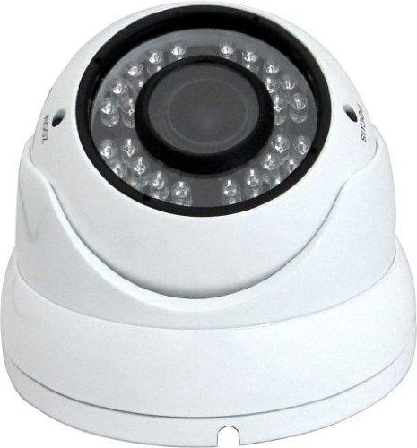 V-See Dome Überwachungskamera 1080P HD AHD CVI TVI CVBS 4 in 1 CCTV-Kamera Wasserdichte Überwachungskamera 2.8-12mm Objektiv 36 IR Nachtsicht Innen und Außen Aluminium Vandalensicher Weiß Farbe