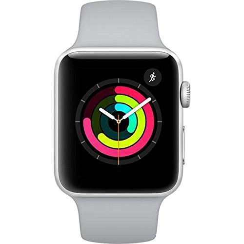 Apple Watch Series 3 (42mm, Silver Aluminum Case with Fog Sport Band - GPS Only) (Generalüberholt)