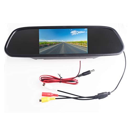 LIUWEI 5.0'5.0 Pulgadas TFT LCD Color COCE Vista Trasera Monitor de Espejo Video DVD Player Audio AUTOMO Auto ATRAJE para CAMION DE INVERSIÓN DE Capa Safety