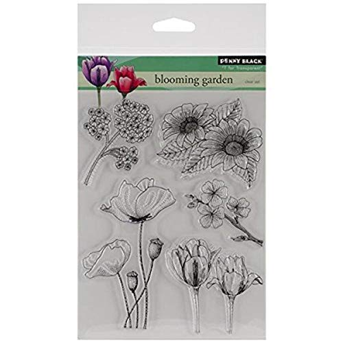 Penny Black Decorative Rubber Stamps, Blooming Garden (30-155)