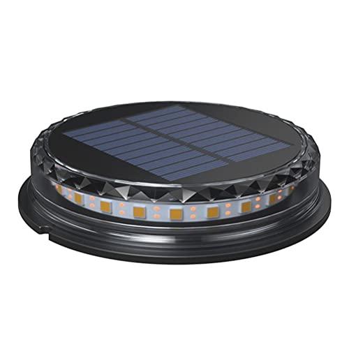 spier Lámparas solares de suelo para exteriores, 12 ledes, resistentes al agua, para exteriores, terraza, césped, patio