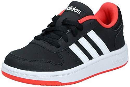 adidas Unisex-Kinder Hoops 2.0 Fitnessschuhe, Schwarz (Negro 000), 35 EU