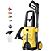 WestForce Electric Pressure Washer 2600 PSI 1.65 GPM Power Washer, 1600W High Power Washer, 20ft High-Pressure Hose, Pressure Cleaner Car Washer with 4 Nozzles & Foam Lance for Vehicle, Home, Garden (Renewed)