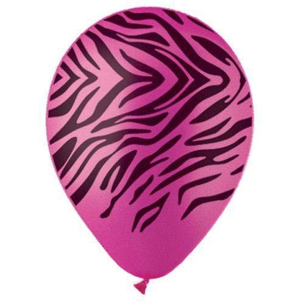 CTI Balloons Latex Balloons 950056 All- All-round Zebra Rose/Black Ink, 12
