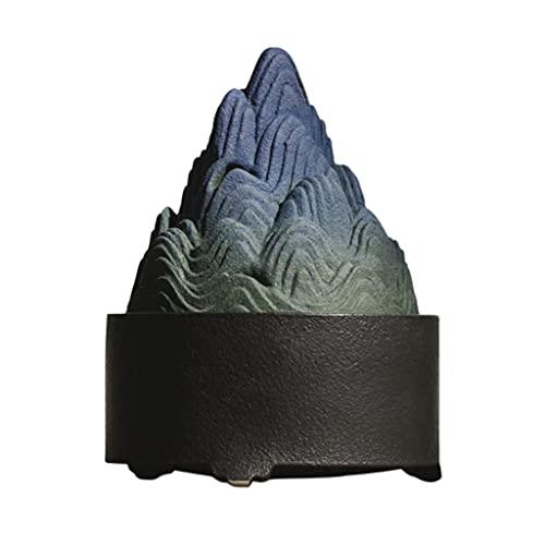 QIAOLI Boshan Horno Antiguo Cerámica Incienso Incienso Creativo Ornamento Inicio Decoración Interior Al Aire Libre Aromaterapia Incienso Holder (Color : Blue)