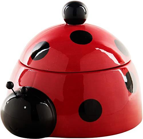 Home Essentials Ladybug Cookie Jar Ceramic
