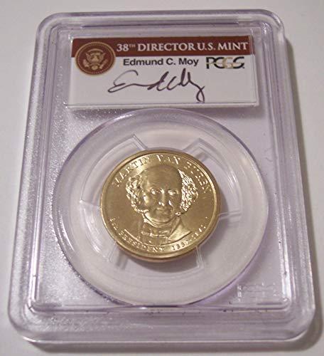 2008 Van Buren Presidential Missing Edge Lettering Error Dollar...