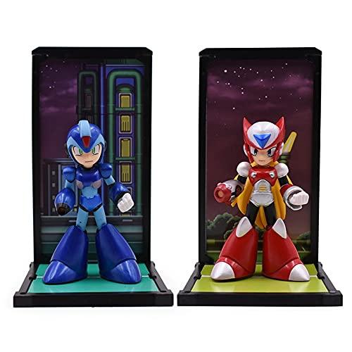 TIANLING Personajes Anime Anime Figure Mega Man Modelo Juguetes Megaman Rockman Azul...