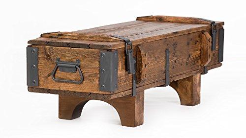 Cassapanca in legno di pino, stile antico e rustico, ideale per cottage vintage