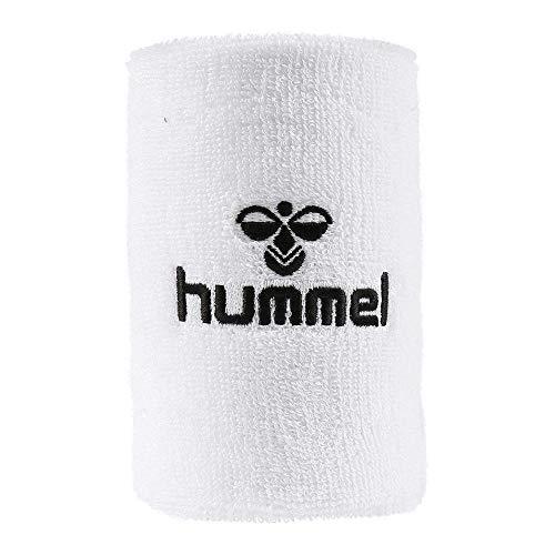 Hummel Old School WRISTBAND Schweißbänder groß 10 Stück weiss-schwarz