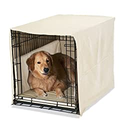 large plush dog crate cover set by Pet Dreams