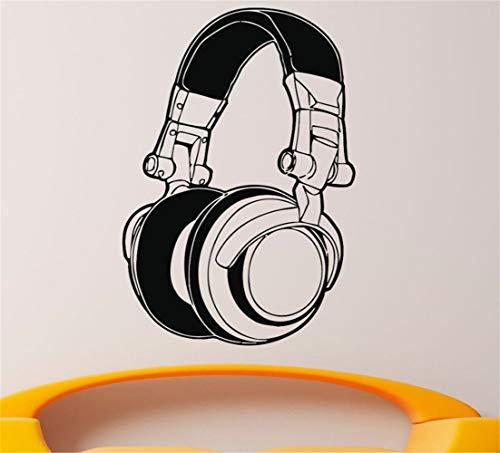 pegatina de pared pegatina de pared 3d The New Arrival Headphones Recorded Music Decoración para el hogar Sala de estar