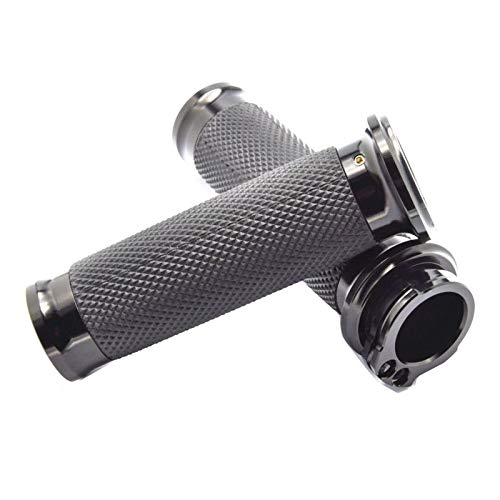 ZCLY Universal 1' 25mm Negro Manillar Manillar Empuñaduras Otorcycle para H&Arley
