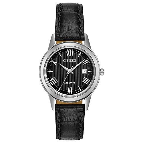 CITIZEN Damen Analog Quarz Uhr mit Leder Armband FE1081-08E