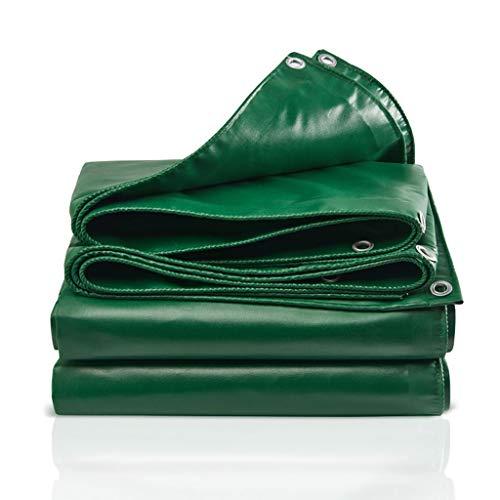 Campingplane Anti-UV-PVC for Terrassen und Camping, Outdoor-undurchsichtiges Picknick Regenschutzplane Shelter mit Metallösen, grün (Size : 8x6m)
