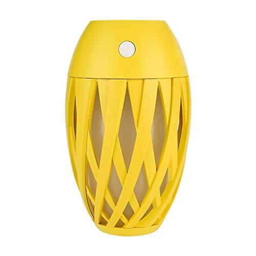 MARIJEE Mini humidificador de aire eléctrico portátil USB de 300 ml, luz nocturna LED purificador de hogar, mini difusor de aceites esenciales para dormitorio, viajes, hogar y oficina (amarillo)