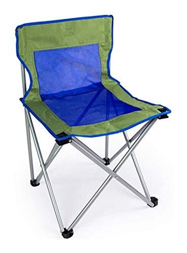 Sedie da Campeggio Sedia Pieghevole Sedia da Campeggio Leggera Portatile Esterno Sgabelli Pieghevoli Sedia con Struttura in Tubo d'Acciaio GCSQF (Color : Blue)