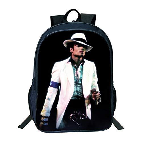 ULIIM Kinder Michael Jackson Rucksäcke Mode Kinder Schultasche Jungen Mädchen Hohe Kapazität Leinwand Reise Schultaschen