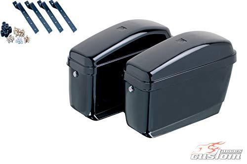 Customacces AZ0626N Seitenkoffer Easy (Paar) je 12L+ Haltesatz Suzuki M1800 R Intruder (WVCA) '06-'17